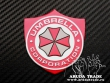 Шильдик Umbrella Corporation (красный)