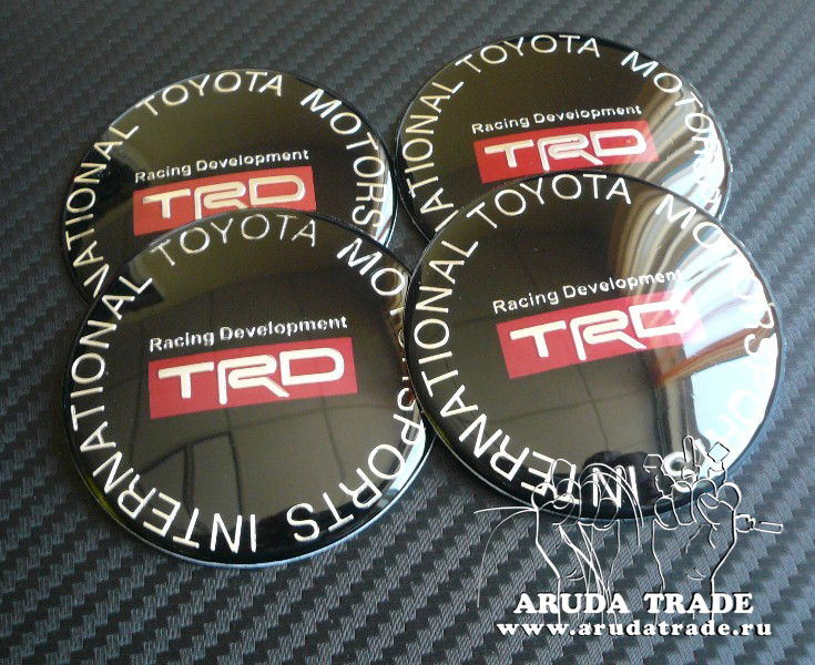 Заглушки, накладки на литье Toyota Racing Development TRD